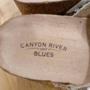 Canyon River Blues Shoes - Canyon River Blues Beaded Wedge Sandals